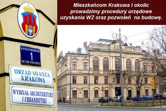 Załatwianie pozwoleń na budowę i WZ - Kraków.